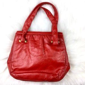 Vintage Red Leather Purse Bag
